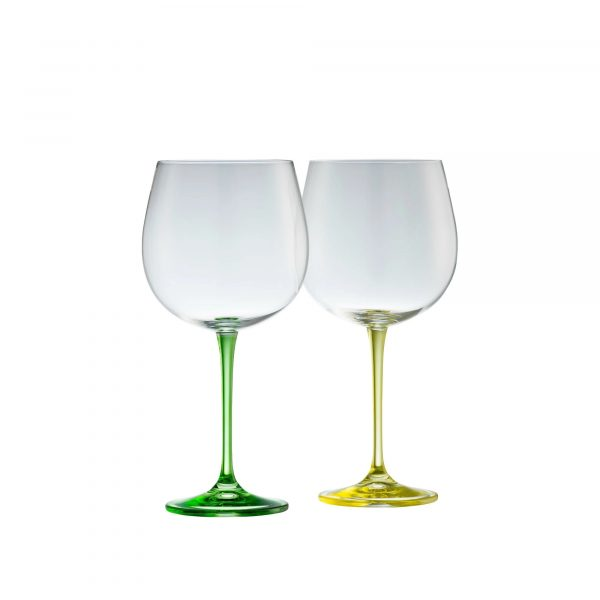 Galway Crystal Gin and Tonic Pair - Lemon and Lime (G600152)