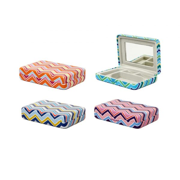 Kikkerland Striped Portable Jewellery Case (OR108-A)