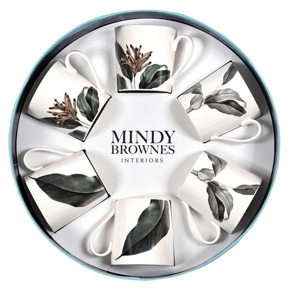 Mindy Brownes Birds of Paradise Cups Set/6 (SHM004)