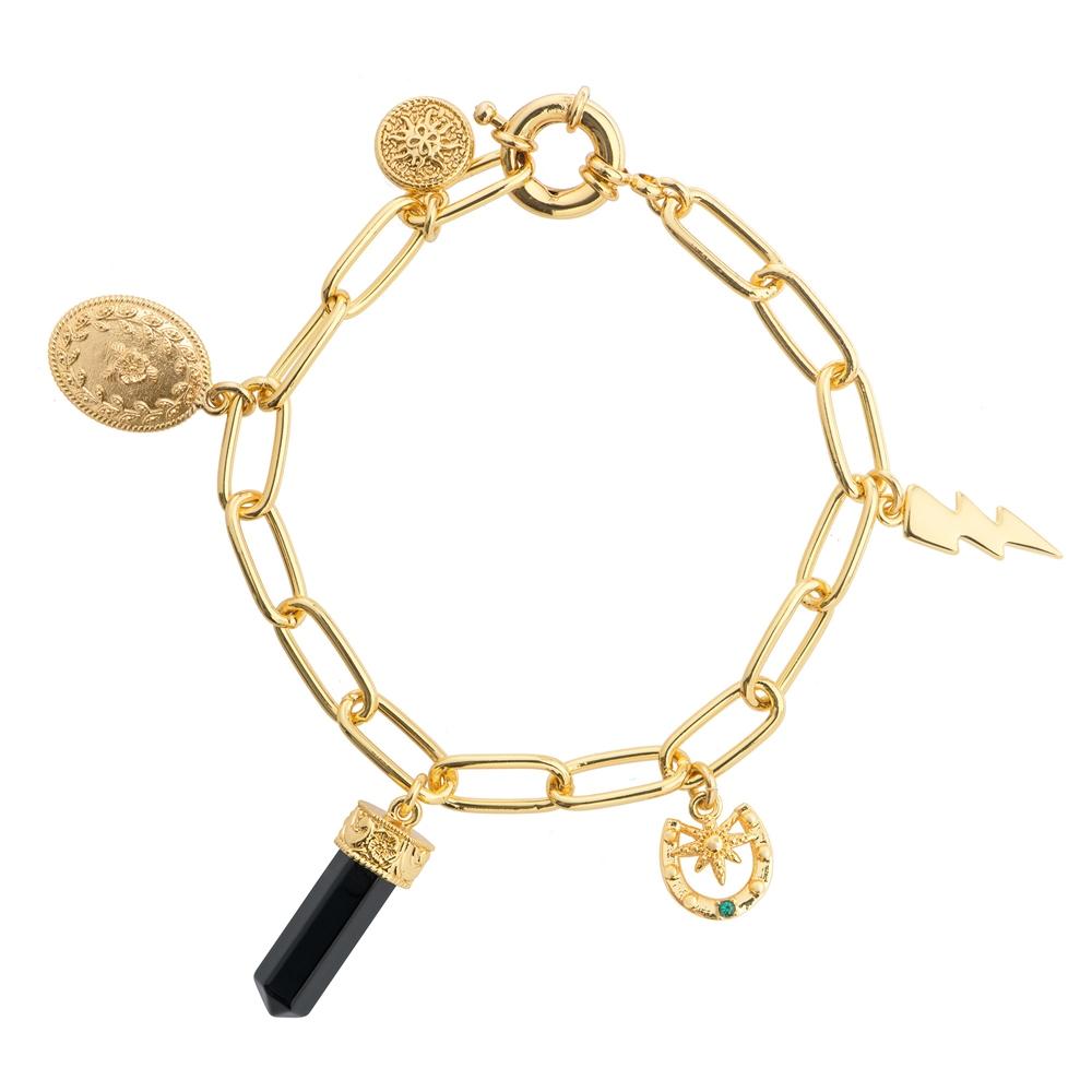 Newbridge Silverware Gold Plated Bracelet with Charms (BL016C)