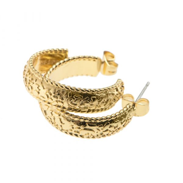 Newbridge Silverware Gold Plated Hoop Earrings (E026)