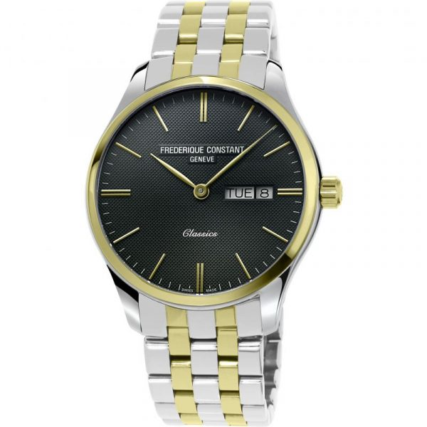 Frederique Constant Classics Stainless Steel and Gold Plated Gents Watch (FC-225GT5B3B)