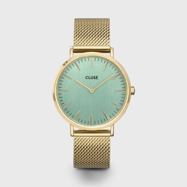 Cluse Boho Chic Mesh Green and Gold Colour (CW0101201027)