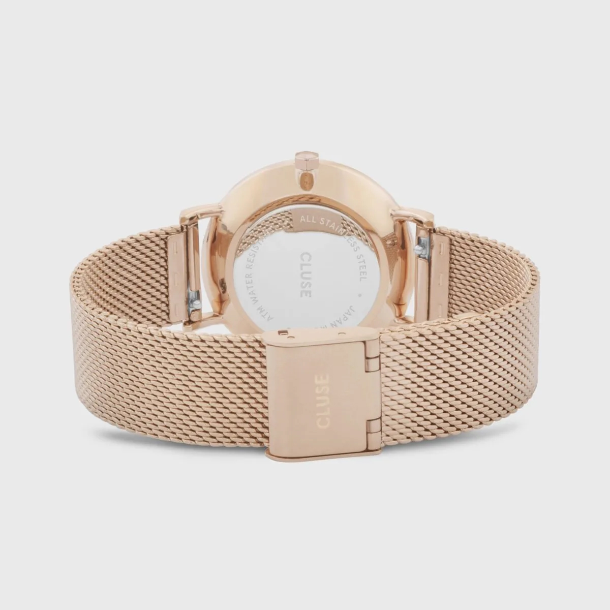 Cluse Minuit Mesh White and Rose Gold Colour (CW0101203001)