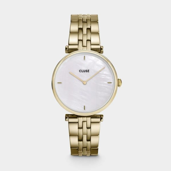 Cluse Triomphe Steel White Pearl and Gold Colour (CW0101208014)