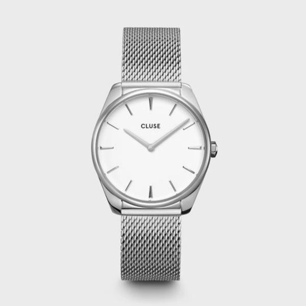 Cluse Féroce Mesh White and Silver Colour (CW0101212001)