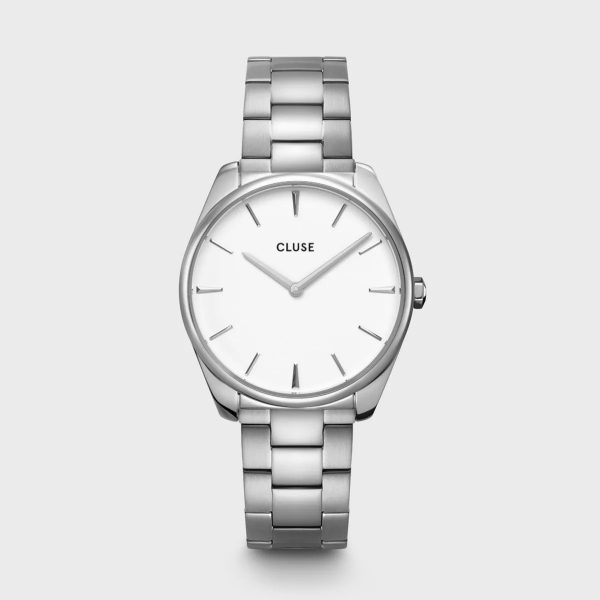 Cluse Féroce Steel White and Silver Colour (CW0101212003)