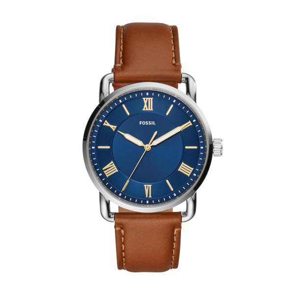 Fossil Copeland 42mm Three-Hand Luggage Leather Watch (FS5661)