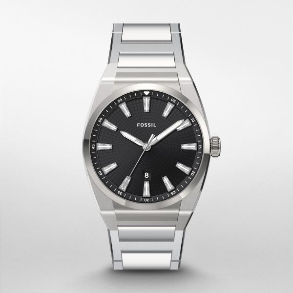 Fossil Everett Three-Hand Watch - Black Dial (FS5821)