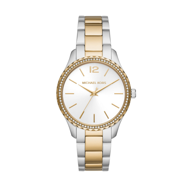 Michael Kors Layton Two-Tone Gold Stainless Steel Ladies Watch (MK6899)
