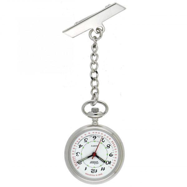 Telstar Nurses Fob Watch - Silver (N1004 CSW)