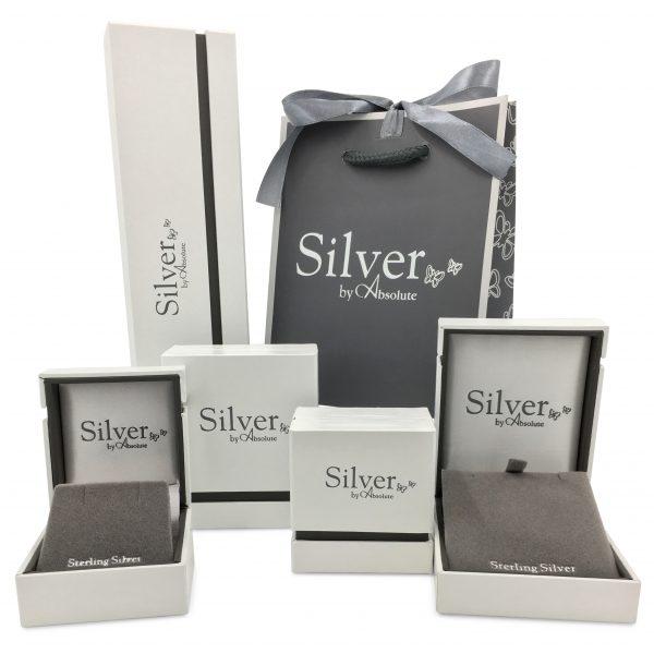 Absolute Silver Cubic Zirconia Bracelet (SB136SL)