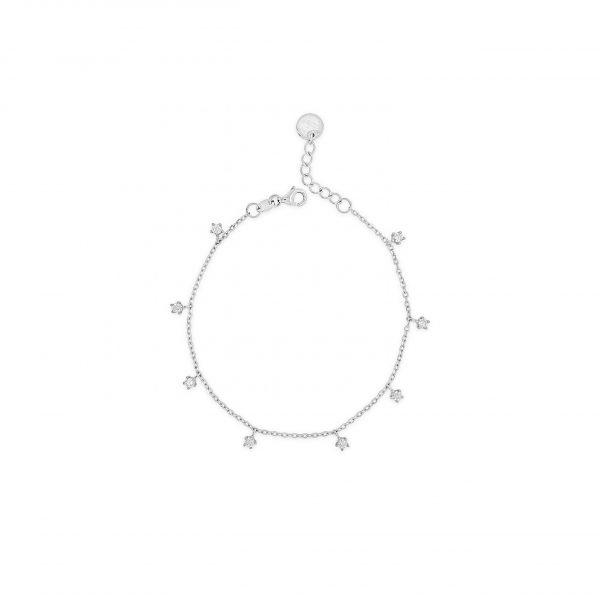 Absolute Silver Cubic Zirconia Bracelet (SB139SL)