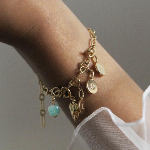 Nilai Paris Ava Stones Charm - Turquoise (CH-AVA-T)