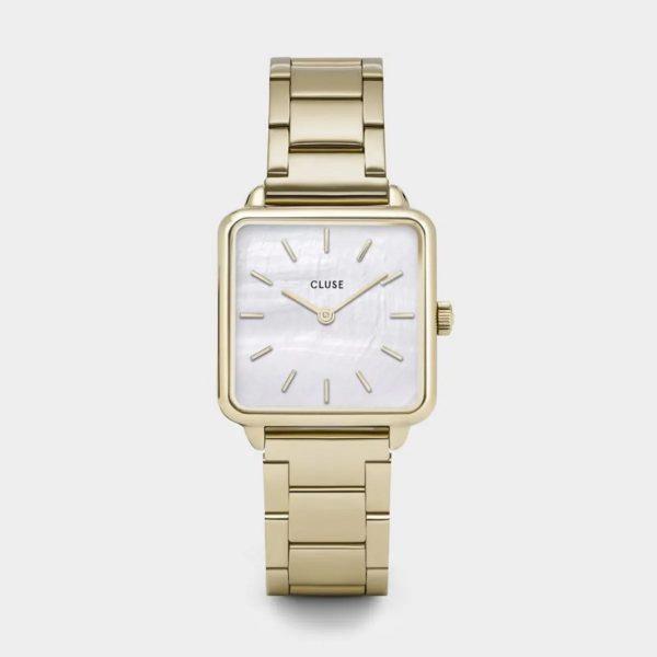 Cluse La Tétragone Steel White Pearl and Gold Colour (CL60026S)