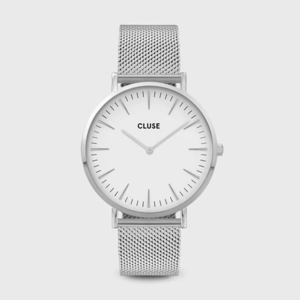 Cluse Boho Chic Mesh White and Silver Colour (CW0101201002)