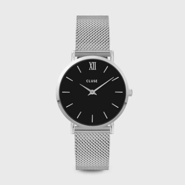 Cluse Minuit Mesh Black and Silver Colour (CW0101203005)