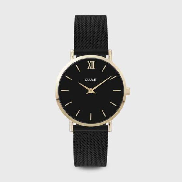 Cluse Minuit Mesh Black and Gold Colour (CW0101203009)
