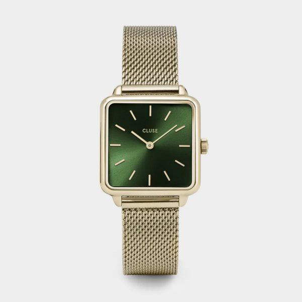 Cluse La Tétragone Mesh Green and Gold Colour (CW0101207013)