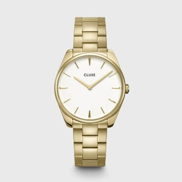 Cluse Féroce Steel White and Gold Colour (CW0101212005)