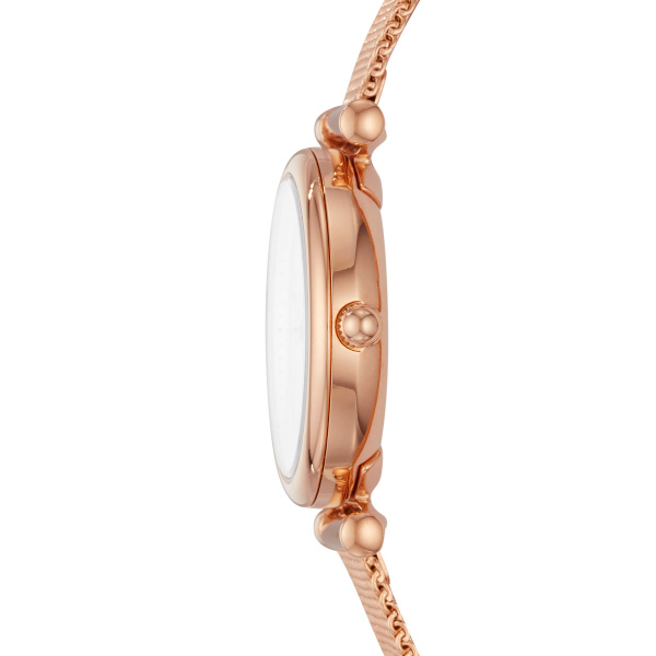 Fossil Carlie Three-Hand Rose Gold-Tone Stainless Steel Watch (ES4433)