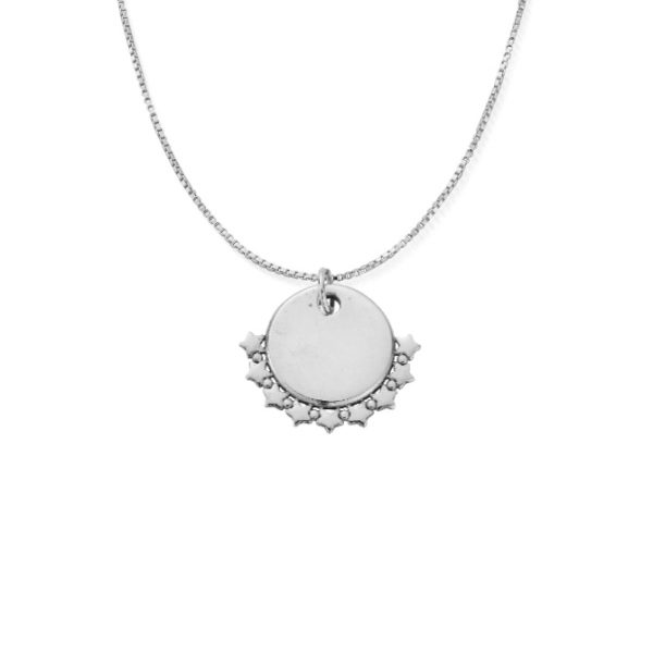 ChloBo Personalised Delicate Box Chain Necklace with Star Charm - Silver (PSNDB3052)