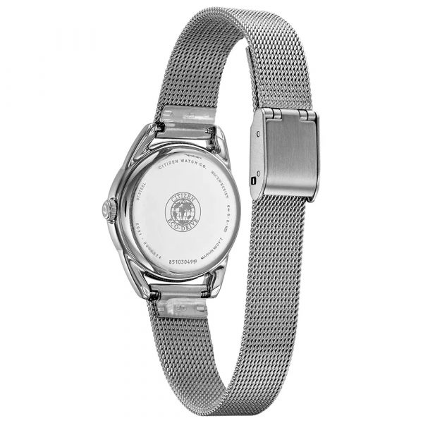 Citizen Ladies Silver Mesh Eco-Drive (EM0680-53D)