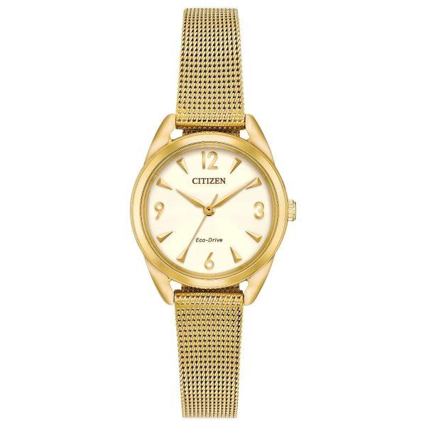Citizen Ladies Gold Mesh Eco-Drive (EM0682-58P)