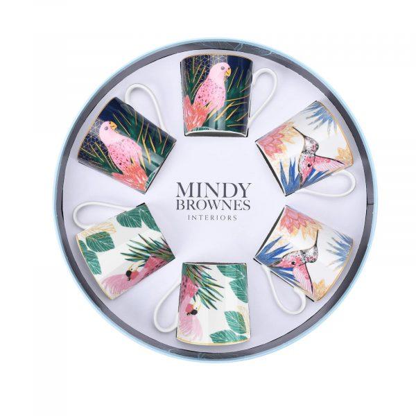 Mindy Brownes Tropical Cups Set/6 (SHM006)