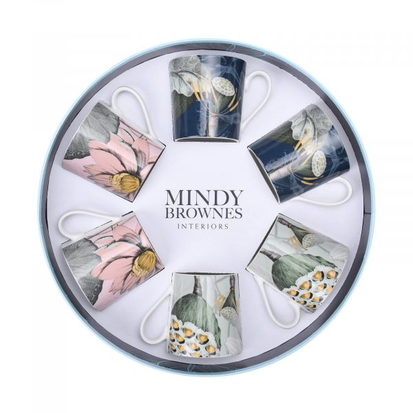 Mindy Brownes Natures Bloom Cups Set/6 (SHM008)