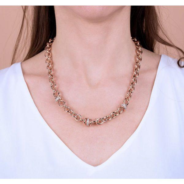 Bronzallure Alternate Link Necklace (WSBZ00520.R)