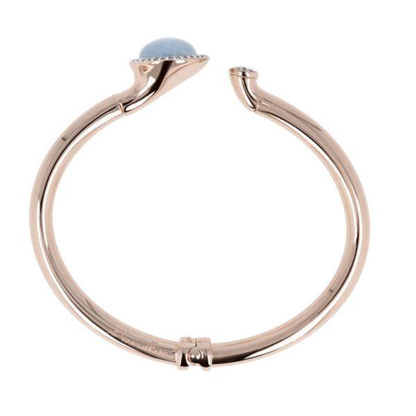 Bronzallure Natural Stone and Cubic Zirconia Cuff Bracelet (WSBZ00579.LB)