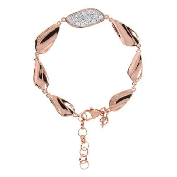 Bronzallure Leaves Bracelet CZ (WSBZ01484.W)