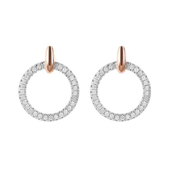 Bronzallure Small Circle CZ Earrings (WSBZ01594.W)