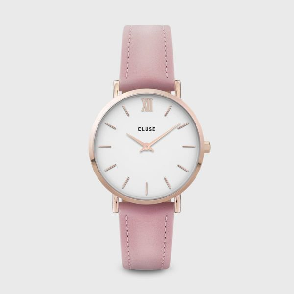 Cluse Minuit Leather Pink and Rose Gold Colour (CW0101203006)