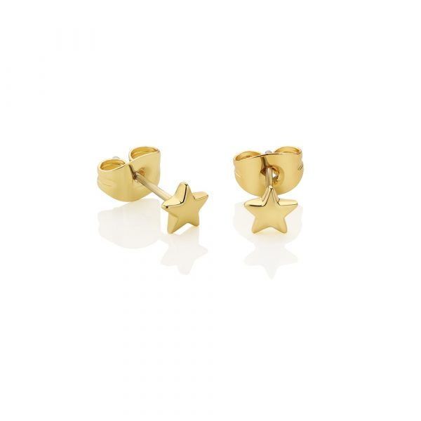 Newbridge Silverware Gold-Plated Star Stud Earrings (E018)