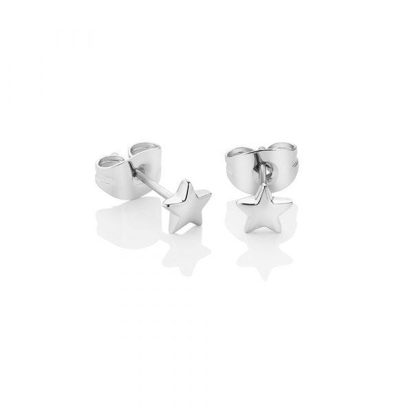 Newbridge Silverware Silver Plated Star Stud Earrings (E018SR)