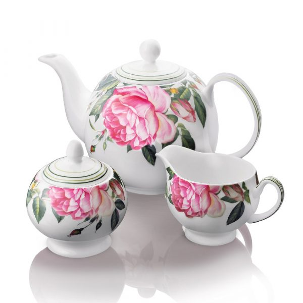 Newbridge Silverware Rose Collection 3 piece Teaset (M175)