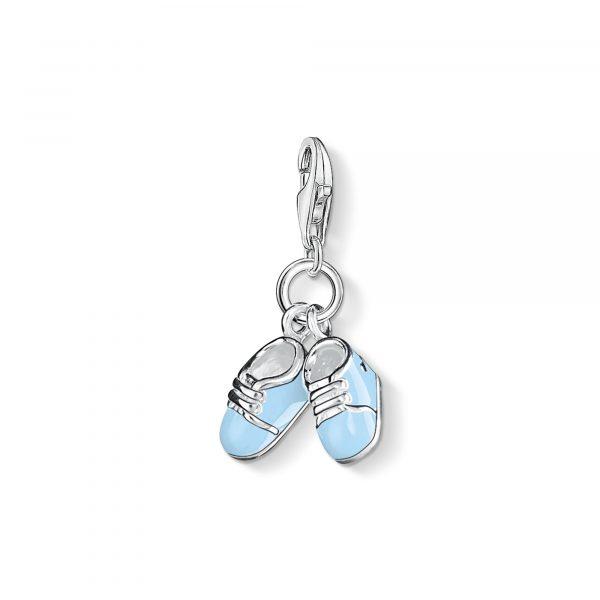 Thomas Sabo Blue Baby Shoes Charm (0822-007-1)