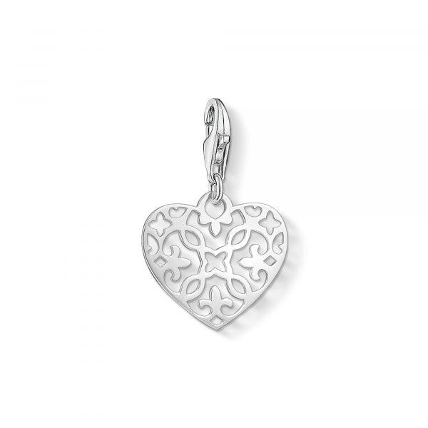 Thomas Sabo Arabesque Heart Charm (1497-001-12)