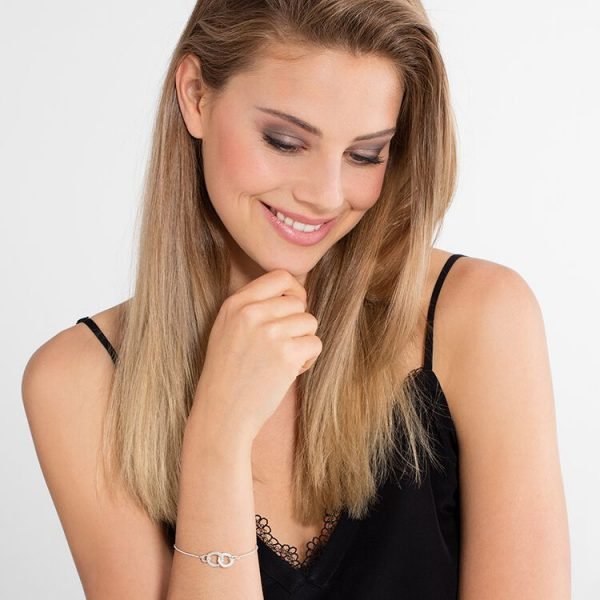 Thomas Sabo 'Together Forever' Interlocking Bracelet (A1551-051-14-L19,5V)