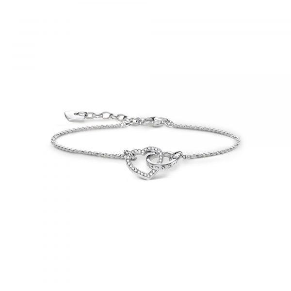 Thomas Sabo 'Together' Interlocking Heart Bracelet (A1648-051-14-L19V)