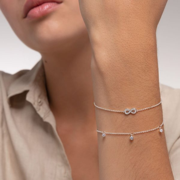 Thomas Sabo Bracelet with Clear Stones in Silver (A1998-051-14-L19V)