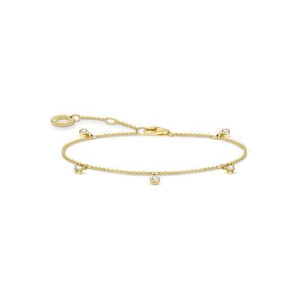 Thomas Sabo Bracelet with White Stones in Gold (A1998-414-14-L19V)