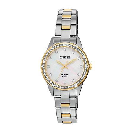 Citizen Quartz Crystal Mother of Pearl Watch (ER0224-51D)