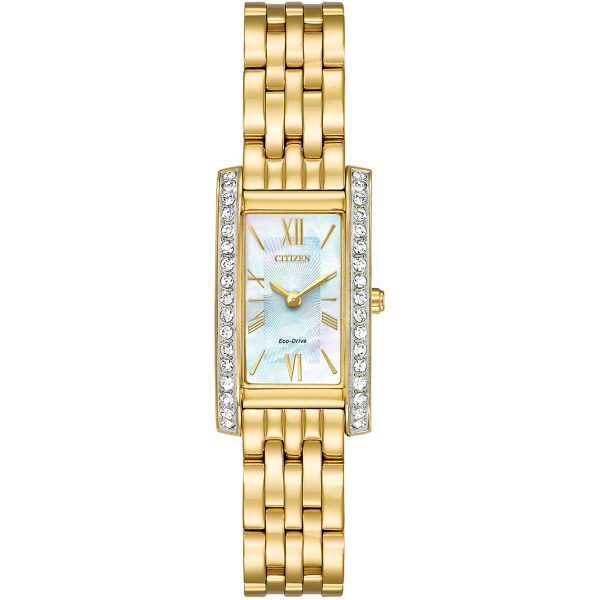 Citizen Ladies Silhouette Crystal Watch (EX1472-81D)