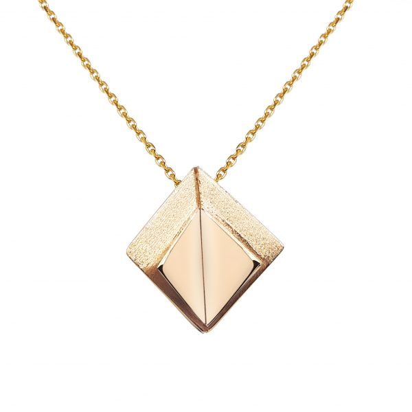 Cathal Barber Goldsmith Fold Pendant in Gold