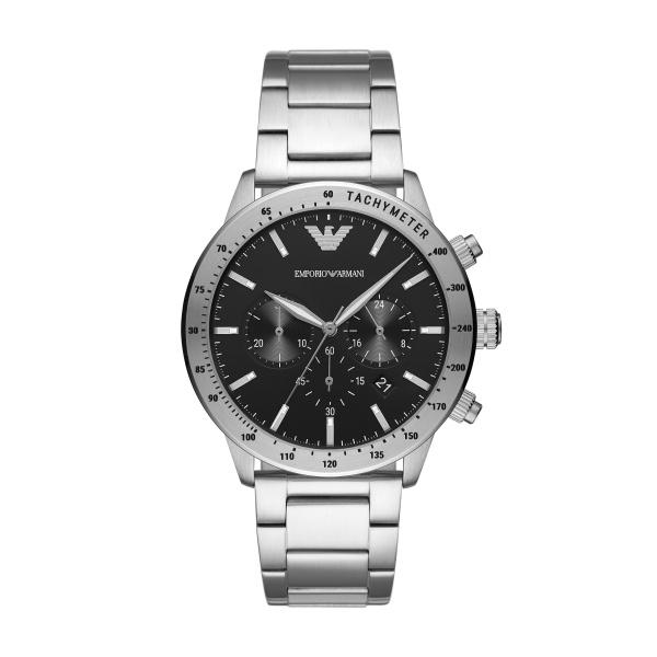 Emporio Armani Mens Stainless Steel Chronograph Watch (AR11241)