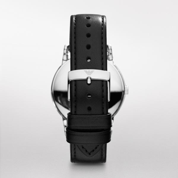 Emporio Armani Black Leather Strap Watch (AR1692)