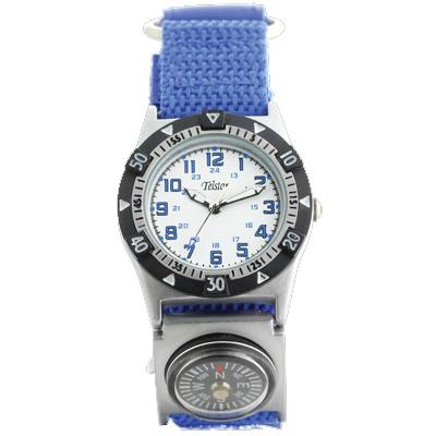 Telstar Boys Watch with Blue Velcro Strap (B1024 VSW)